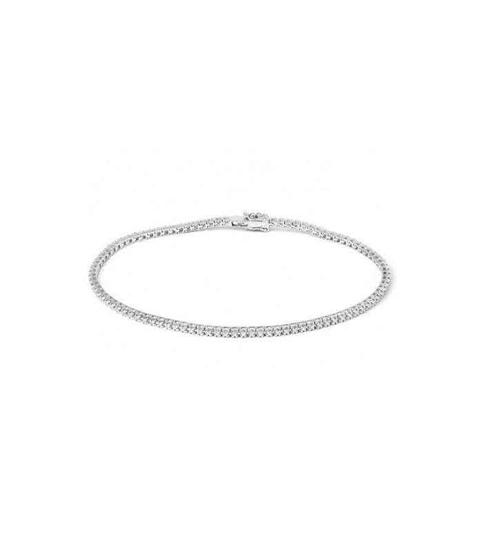 Pulsera Riviere en oro blanco de primera ley y diamantes de talla brillante.