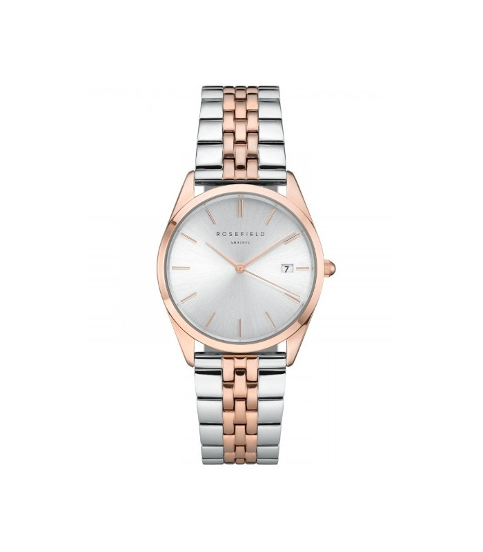 Reloj Rosefield The Ace Plata y Rose