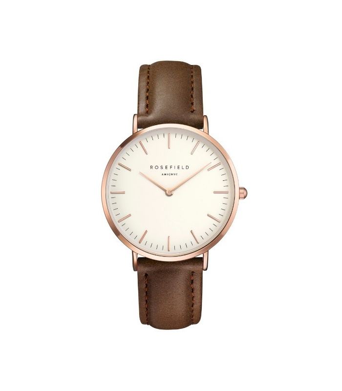 Rellotge Rosefield The Bowery Blanc i Marró
