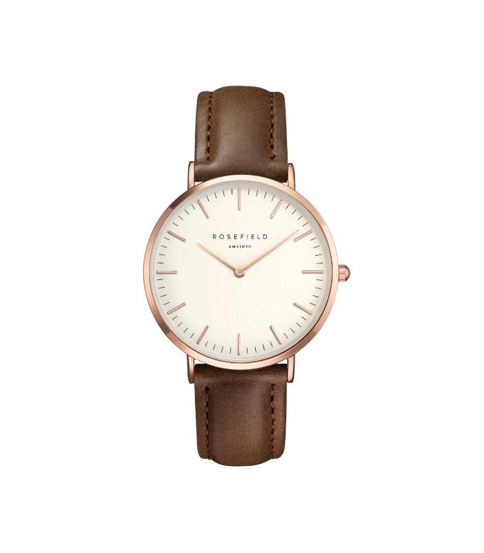 Reloj Rosefield The Bowery Blanco y Marrón