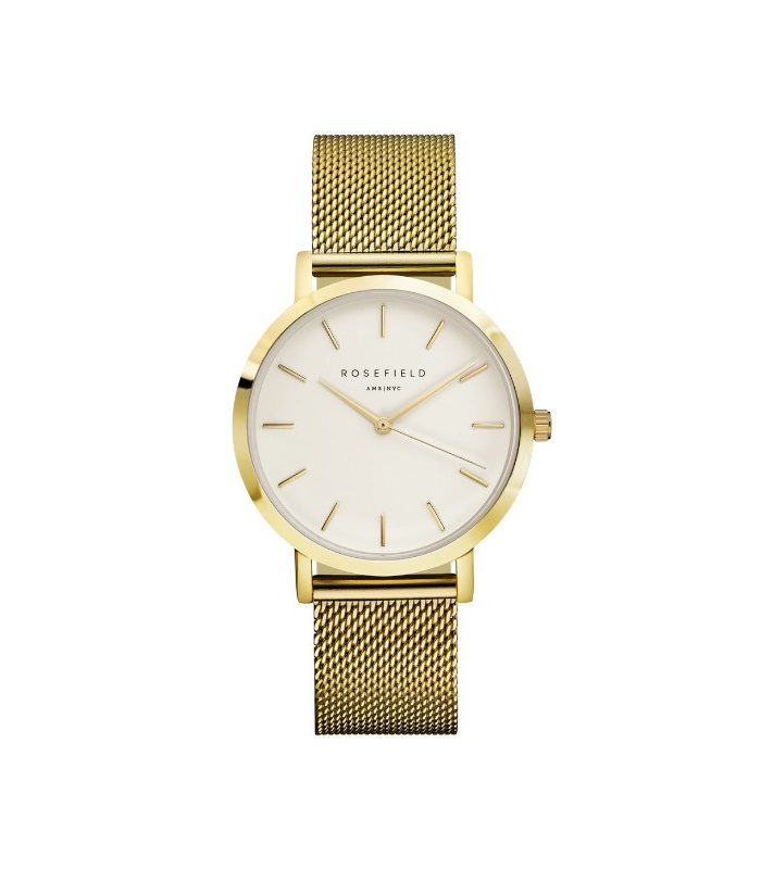 Reloj Rosefield The Mercer Blanco-Oro