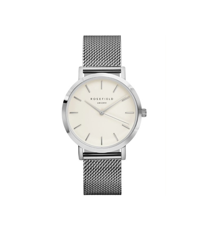 Reloj Rosefield The Mercer Blanco-Plata